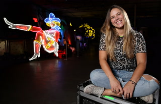 Neon Museum artist in residence creates neon-inspired sculptures