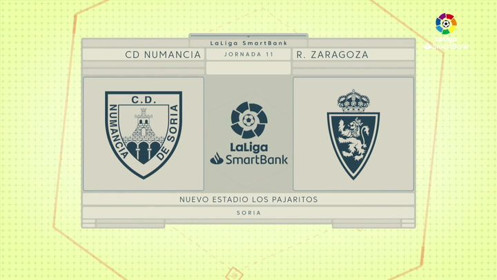 LaLiga SmartBank (J11): Resumen y goles del Numancia 0-1 Zaragoza