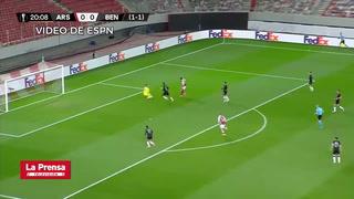 Aubameyang, héroe del Arsenal ante Benfica en Europa League