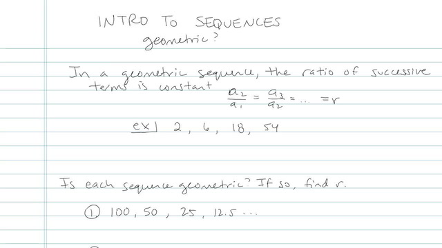 Introduction to Sequences - Problem 4