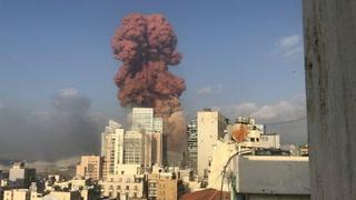Dos explosiones en el puerto de Beirut dejan decenas de heridos