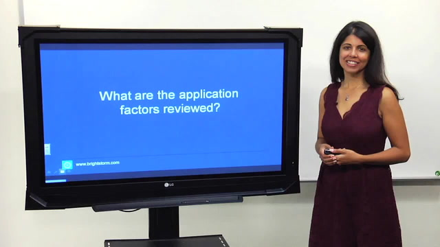 What are the application factors reviewed?