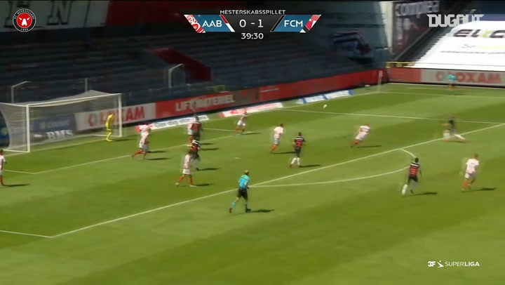 Joel Andersson lashes home stunning volley vs AaB