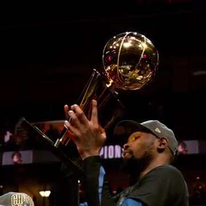 Kevin Durant fue el MVP en las finales de la NBA 2017-2018