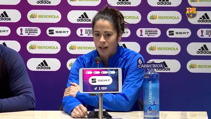 Marta Torrejón habla antes de la final de la Supercopa de España