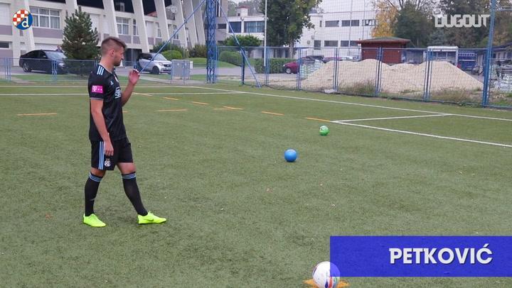 Football Challenges: Dinamo Zagreb Test Their Shooting Skills