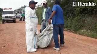Encuentran dos personas encostaladas en Tegucigalpa
