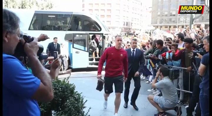 El FC Barcelona ya está en Bilbao