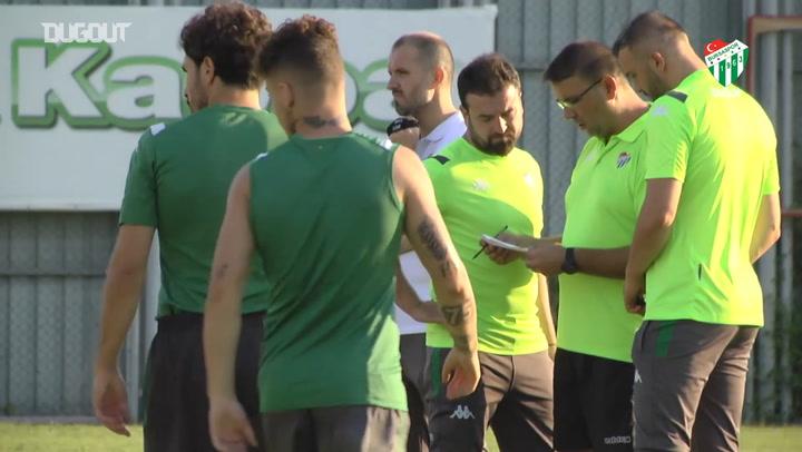 Mustafa Er'in Bursaspor ile İlk Antrenmanı