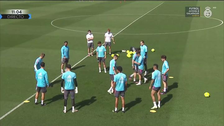 Último entrenamiento del Real Madrid antes de recibir al Sevilla