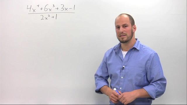Dividing Polynomials using Long Division - Problem 1
