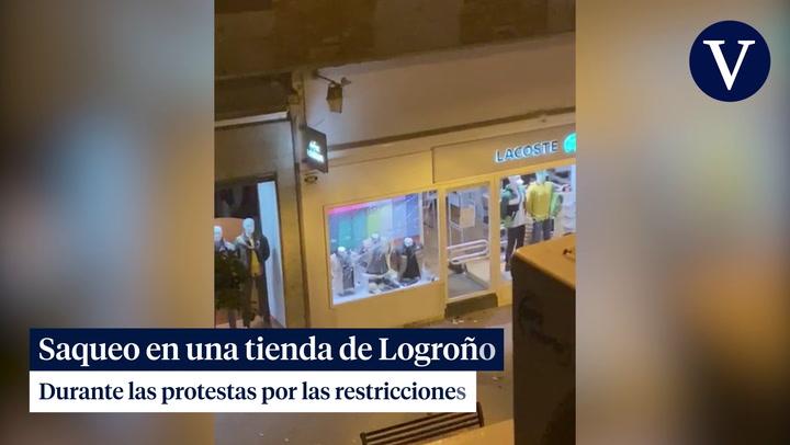 Disturbios en Logroño tras una concentración contra las restricciones