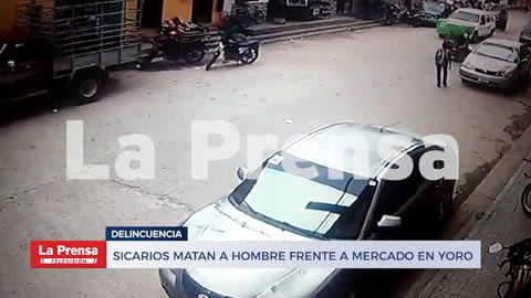 Sicarios matan a hombre frente a mercado en Yoro