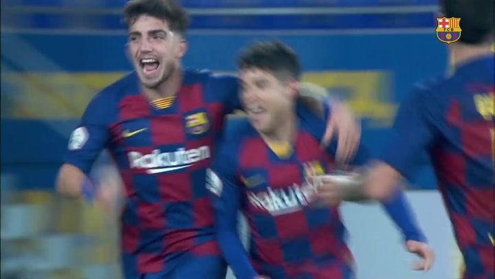 El resumen del Barça B - Badalona (2-1)