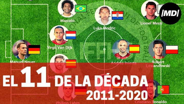 El once de la última década según la IFFHS