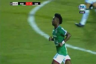 El gol magistral de Marlon Ramírez para descontar el marcador ante Santos