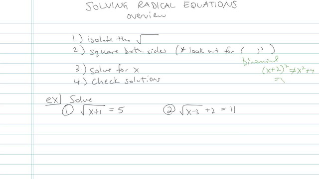 Solving Radical Equations - Problem 9
