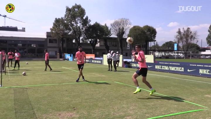 En el entrenamiento: Fut-Tenis con el Club América