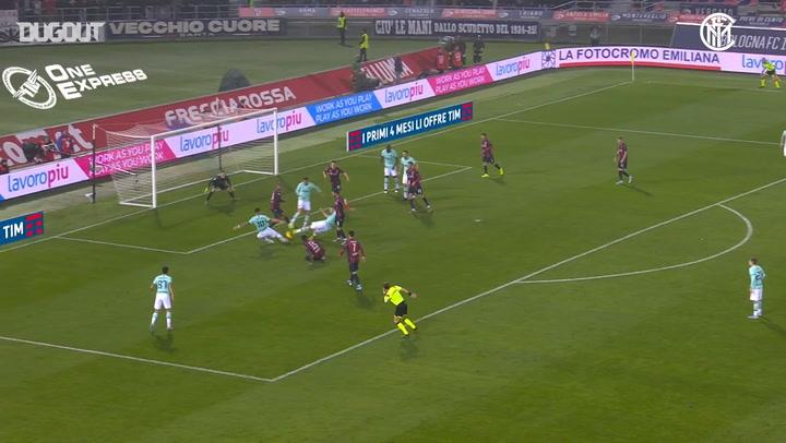 Romelu Lukaku's brace secures victory Vs Bologna