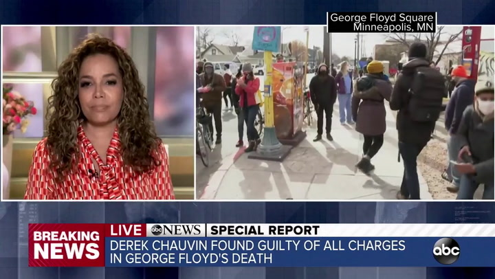 ABC's Hostin Breaks Down on Air Reacting to Chauvin Verdict: 'This Is What Justice Finally Looks Like for My Community'