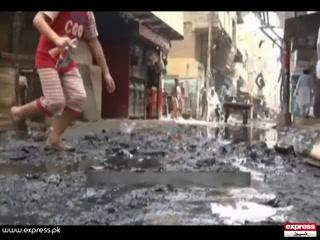کراچی کے علاقے لیاری کا گندگی سے برا حال، رہائشی پریشان
