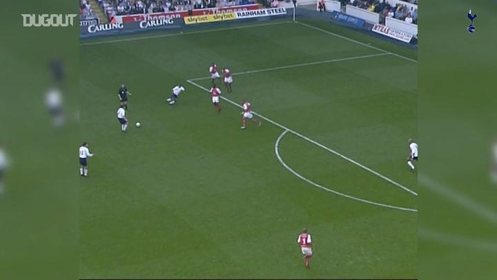 Jamie Redknapp's long-range effort vs Arsenal