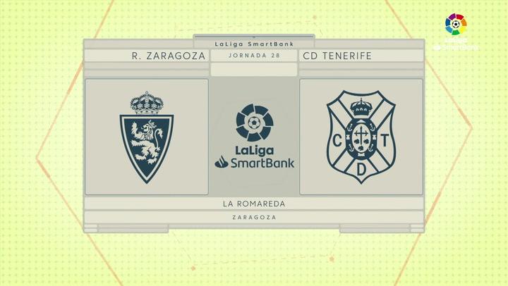 LaLiga SmartBank (J28): Resumen y gol del Zaragoza 1-0 Tenerife
