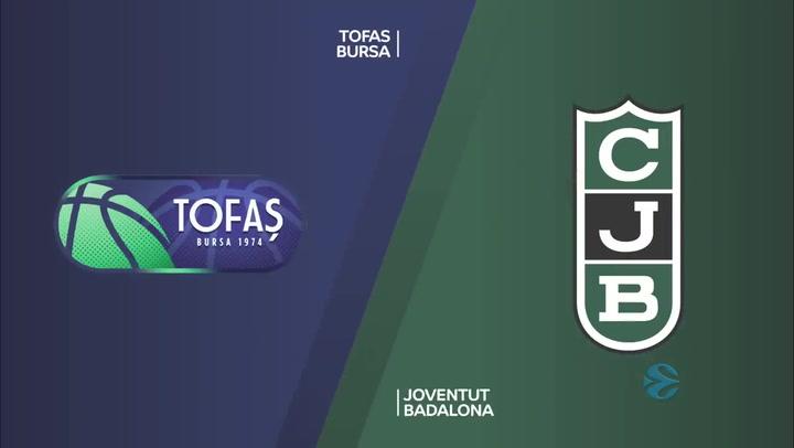 EuroCup: Tofas Bursa - Joventut Badalona