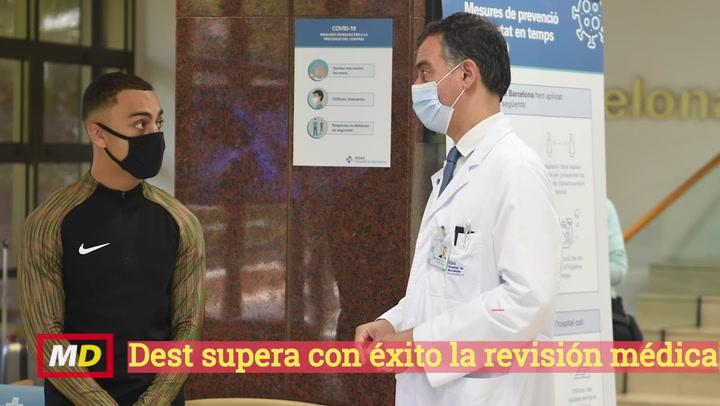 Revisión médica de Sergiño Dest
