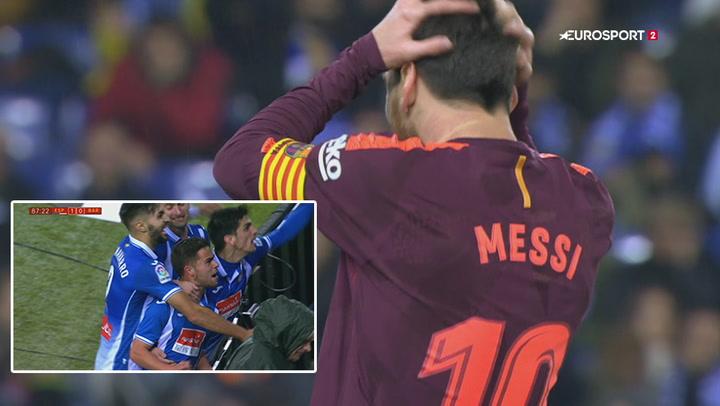 Highlights: Espanyol vinder over Barcelona efter vild afslutning