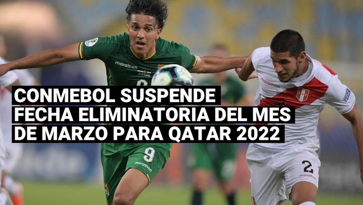 Qatar 2022:Eliminatorias quedaron suspendidas para la fecha doble de marzo