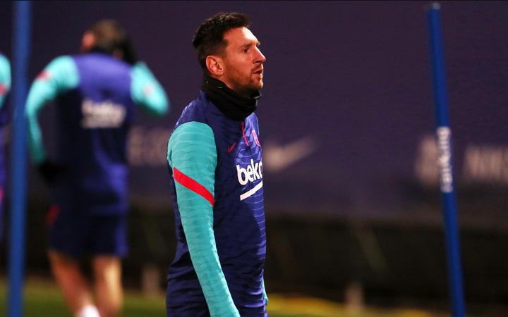 Primer entrenamiento del año del Barça