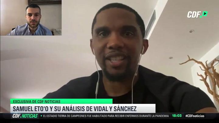 """Eto'o: """"Espero que Arturo Vidal esté toda su carrera en el Barça"""""""