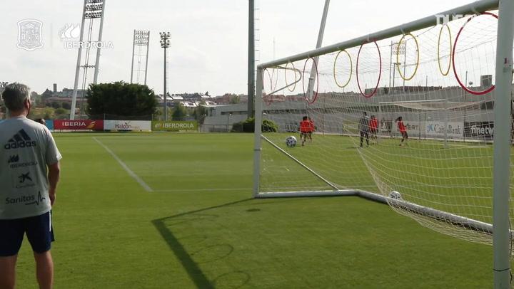 Circuito de precisión en el entrenamiento de la selección española femenina