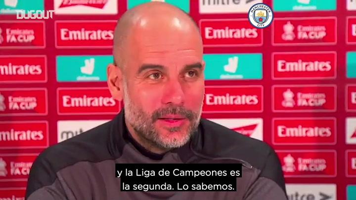 Guardiola: 'Nosotros no tiramos ninguna competición'