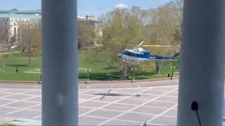 Capitol Hill lockdown: Police helicopter arrives on scene