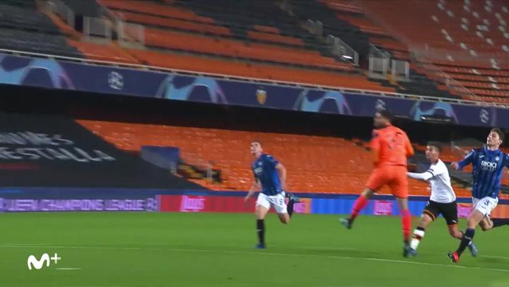 Champions League: Valencia-Atalanta. Gol de Ferran Torres (3-2)