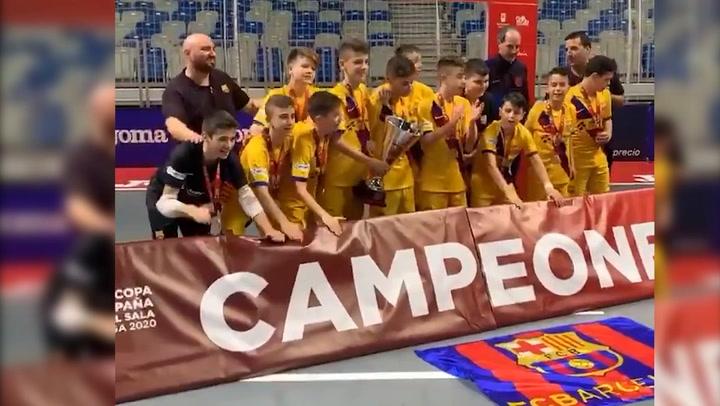 El Barça, campeón incontestable de la Minicopa