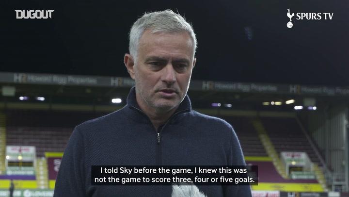Mourinho praises Tottenham team spirit following Burnley win