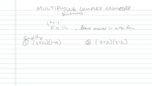 Multiplying Complex Numbers - Problem 4