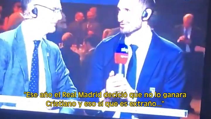 Chiellini cree que el Real Madrid no quiso que Cristiano ganara el Balón de Oro de 2018