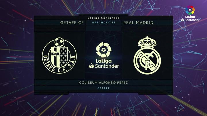 LaLiga Santander (Jornada 33): Getafe 0-0 Real Madrid
