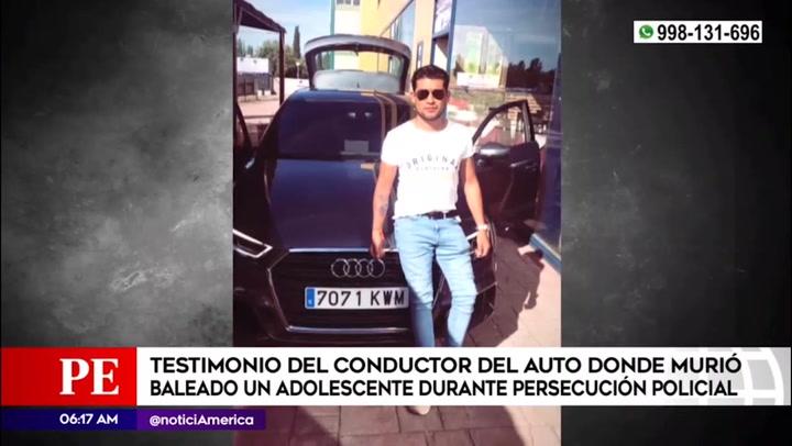 Balacera en San Miguel: El testimonio del conductor y tío de menor de 13 años abatido por la policía en extraña persecución