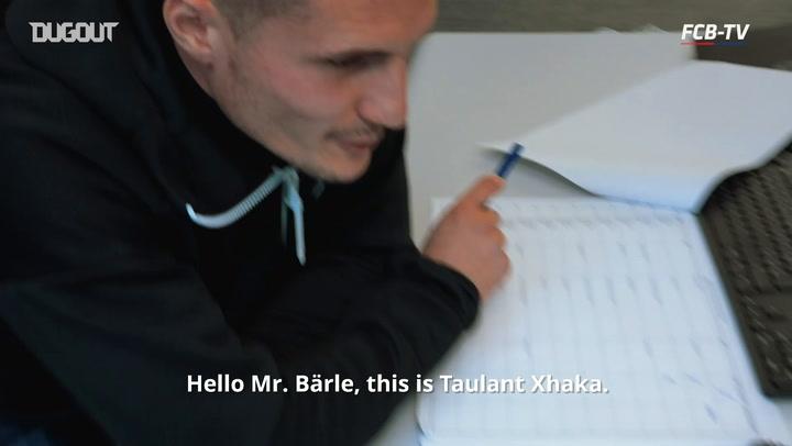 FC Basel 1893 Players Surprise Fans
