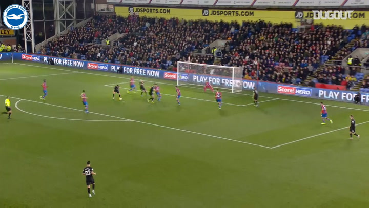 Maupay opens the scoring in Brighton draw at Crystal Palace