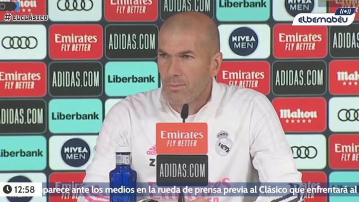 Rueda de prensa de Zidane previa al Clásico