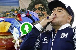 ¿Se estaba despidiendo? Filtran el último audio que envió Diego Maradona antes de morir