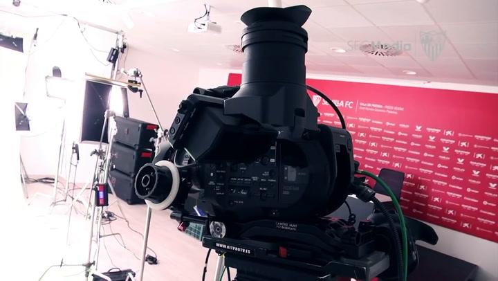 Así fue la sesión de fotos del Sevilla FC para La Liga 20/21