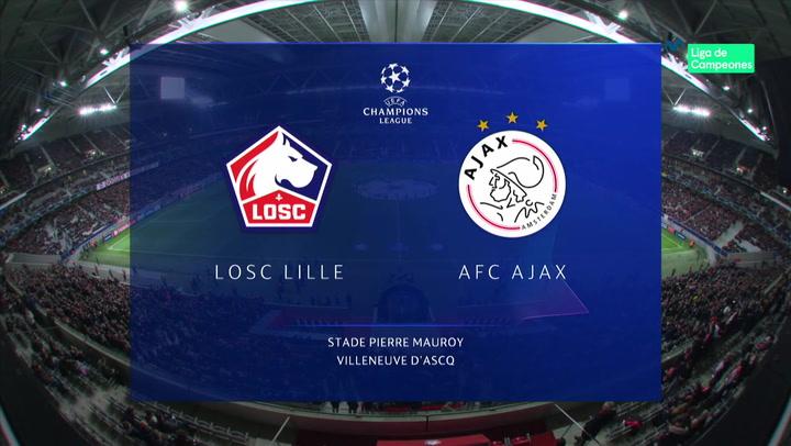 Champions League: Resumen y Goles del Lille - Ajax