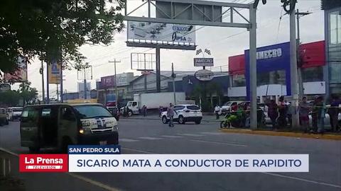 Sicario se hace pasar como pasajero y tirotea a conductor de rapidito en San Pedro Sula